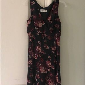 Alfani black and burgundy sundress
